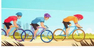 cycling with friends