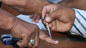 Electoral procedure of marking finger with ink denotes casting the vote